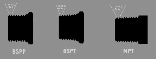 BSP vs NPT thread fittings