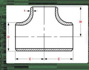 buttweld fittings dimensions asme b16.9