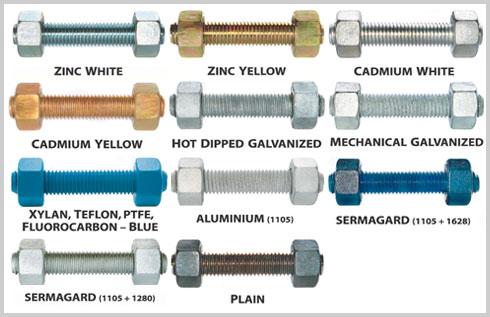 Stud bolts coating materials