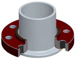 flanged joint with stub end