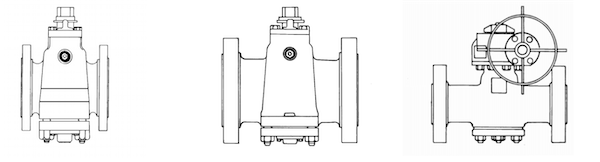 Short, regular and Venturi plug valve