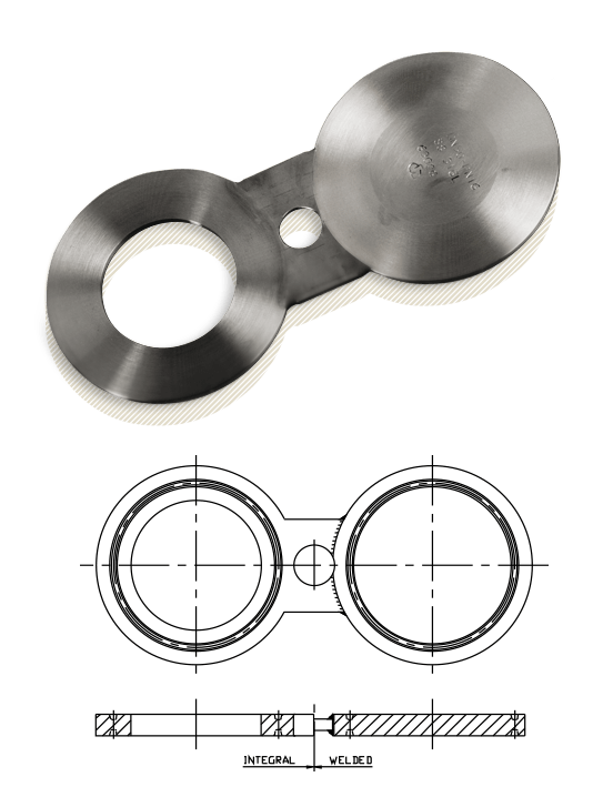 Spectacle Blind Flange Spade Ring Spacer Asme B16 48