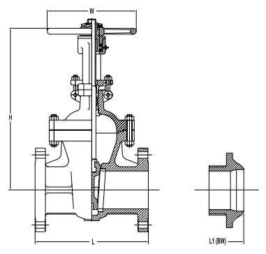 Gate valve sizes