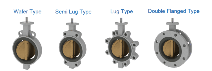 Types of butterfly valves