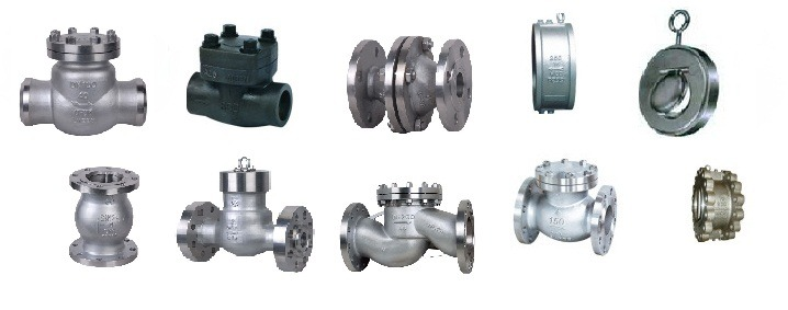 Swing, Ball, Lift, Piston valves