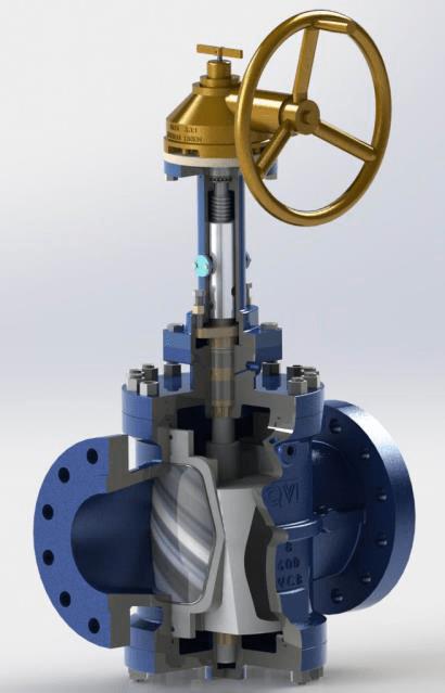 Expanding plug valve DBB