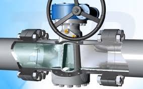 API 6D lubricated plug valve in pipeline
