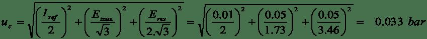 Instrument calibration formula