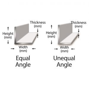Difference equal unequal steel angles